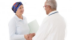 doctor and cancer patient talking