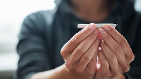 (cannabis smoking (shutterstock