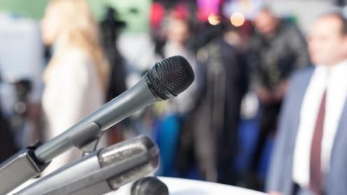 (press conference (shutterstock