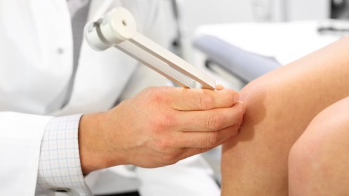 (Orthopedic patient at the doctor (shutterstock
